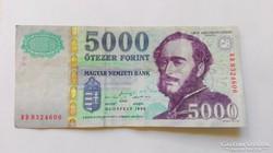 1999 évi  5000.-Ft-os