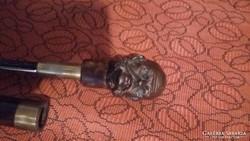 Ferenc József bronz tőrős sétabot