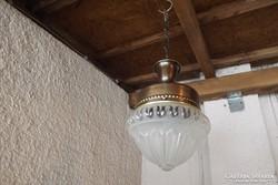 """Antik réz függő lámpa csillár eladó """"antik búrás"""""""