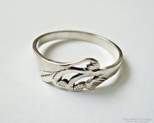 Áttört mintás ezüst gyűrű