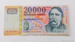 2008 évi  20.000.-Ft-os Bankfriss UNC
