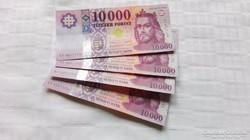 """2015 évi új. 10000.-Ft- """"AA"""" 4.db Bankfriss,UNC"""