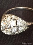 Antik Gyémát Gyűrű