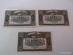 10 korona 1920 UNC.