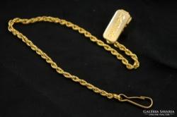 Philips márkájú aranyozott zsebóra lánc