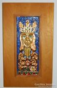 Tűzzománc falikép : Királynő