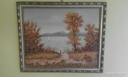 Feith Károly : Füred c. festménye
