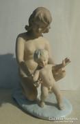 Wallendorf porcelán - Anya gyermekével