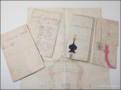 Ó Budai Polgárcég kápolna tervrajz és költségvetése 1885
