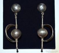 Hatalmas art deco ezüst fülbevaló-exkluziv ötvös ékszer