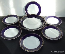 Zsolnay Pompadur / Pompadour sütis készlet