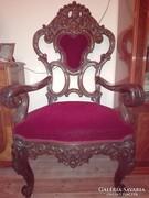 Barokk családfő szék