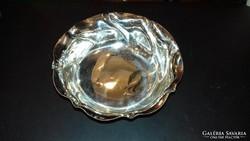 Ezüst kínáló tálka / salátás tálka