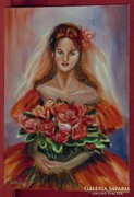 Menyasszony vörösben - Gyönyörű színekkel megfestett alkotás