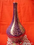 Hollóházi art deco márvány mintás váza