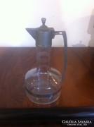 Fém tetejű üveg karaffa (gs0081)