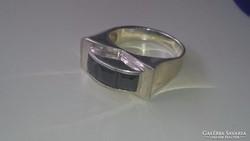 Artdeco Ezüst gyűrű fekete onix kövekkel...