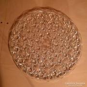 Tortatál, tortatálca üvegből gazdagon díszítve