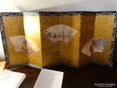 Japán asztali paraván, Byobu összehajtható panel