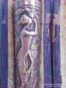Ezüst és borostyán szipka dobozával.1900-körül.