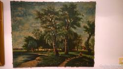 Nagy méretű régi festmény /Pap Emil 1884-1945/