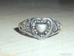 Régi Szív mint.Tibeti ezüst gyűrű 2.