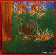 Fajdkakas a sőtét erdőben - Mély színekkel megfestett kép