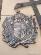 Hatalmas Szép 33 cm Koszorús Magyar címer