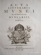 ACTA LITTERARIA MUSEI NATIONALIS HUNGARICI BUDA 1818 Unicus