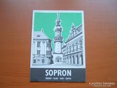SOPRON TÉRKÉP 1986