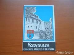 SZERENCS ÉS BEKECS TÉRKÉPE 1990