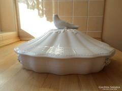 Herendi fehér fedeles porcelán kínáló tálaló tál