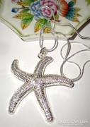 Csodás tengeri csillag medál és lánc