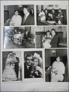 1960 - as évek esküvői fotó - 7 darab