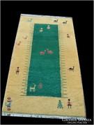 Indi Gabbeh kézi csomózású gyapjú szőnyeg 160x90