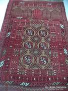 Afgán Ima fülkés kézi csomózású gyapjú szőnyeg 118x76