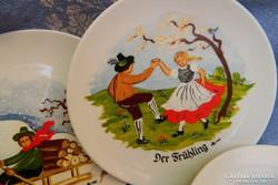 Gyűjtői 4 évszak tányér, sorozat, Germany
