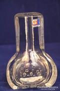 Egyszálas üvegváza,német - german art glass vase (69)