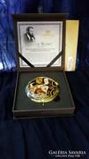 Kézi tükör dobozban 11cm,Klimt:Várakozás