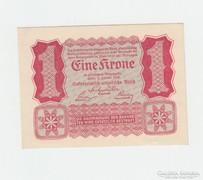 1  KORONA ! OSZTRÁK -MAGYAR !  1922 GYÖNYÖRŰ UNC !!!