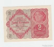 2 KORONA ! OSZTRÁK -MAGYAR !  1922 GYÖNYÖRŰ UNC !!!
