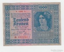 1000 KORONA ! OSZTRÁK -MAGYAR !  1922 GYÖNYÖRŰ UNC !!!