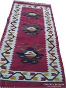 Kaukázusi kilim kézi szövésű gyapjú szőnyeg 160x85