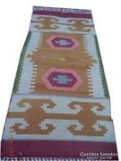 Antik Török kilim kézi szövésű gyapjú szőnyeg 165x77