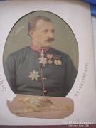 Solferinó csata hőse1859 kortörténeti ritkaság festett kép