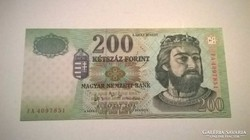 200 forint 2004-es.,,FA,,UNC ritka bankjegy!!