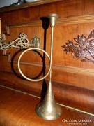 Kürt alakú nagyobb réz / fém gyertyatartó