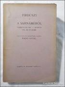 Firdúszi :Sahnáméból FERIDÚN ÉS FIAI/SZIJAVUS/ZÁL ÉS RUDAB