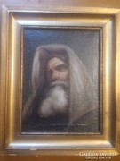 Idős rabbi portréja ,