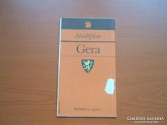 GERA NÉMET (NDK) VÁROSTÉRKÉPE 1988
